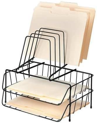 Letter Tray File Holder Max 60% OFF Comp store 8 Black