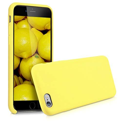 kwmobile Coque Compatible avec Apple iPhone 6 / 6S - Housse de téléphone Protection Souple en TPU Silicone - Jaune Pastel