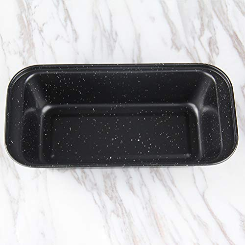 Cabilock 2pcs Mini Loaf Pans Nonstick Bread Pan Toast Mold corrugated loaf Pan Easy launch and baking mildew for Homemade Cakes, Breads, Meatloaf and Quiche(350g Black)