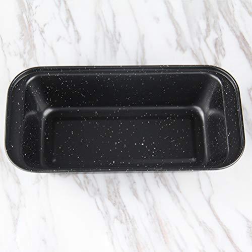 Cabilock 2 Stück Mini Laib Pfannen Antihaft Brot Pfanne Toastform Wellpappe Laib Pfanne Leicht zu Lösen Und Backform für Hausgemachte Kuchen Brot Hackbraten Und Quiche (350G Schwarz)