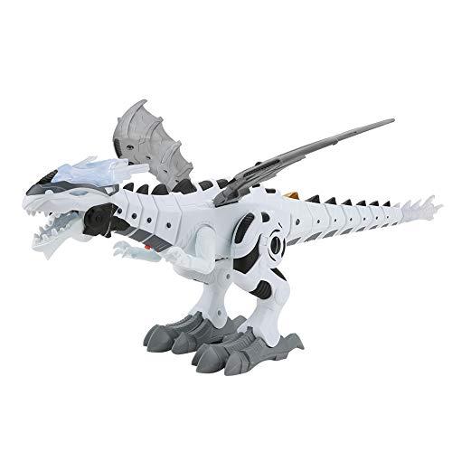 Yosoo 電気恐竜 おもちゃ 恐竜おもちゃ 電気 恐竜模造 電気歩行恐竜ロボット チラノサウルスレックス 恐竜モデル 電動ロボット ミストスプレー 音声ライト付き 誕生日 ギフト 贈り物 子供用 47 * 27 * 17.5cm (白)