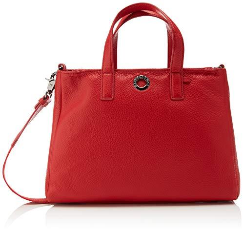 Mandarina Duck Damen Mellow Leather Kuriertasche, Rot (Flame Scarlet), 12x19x28 Centimeters
