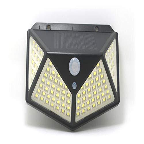 MLXLX Luz de calle solar 100LED Luz de sensor de cuerpo luminosa de cuatro lados Luz de pared Luz de jardín impermeable