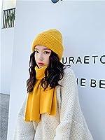 Cong-LL 帽子 女性のいずれかの固体のアクリル冬の帽子とスカーフユニセックスVISROVER 8つの配色1セットはボンネットスヌードアクリルユニセックスのウォームを設定しました (Color : 2)