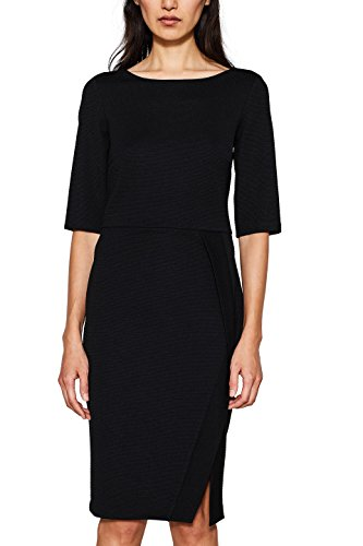 ESPRIT Collection Damen 018EO1E008 Kleid, Schwarz (Black 001), Large