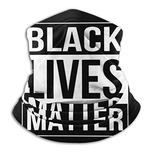 jhgfd7523 Black Lives Matter DIY Face Covering Unisex Multifunción Microfibra Cara Mas-k Cuello Polaina Protección UV Bandanas Pasamontañas
