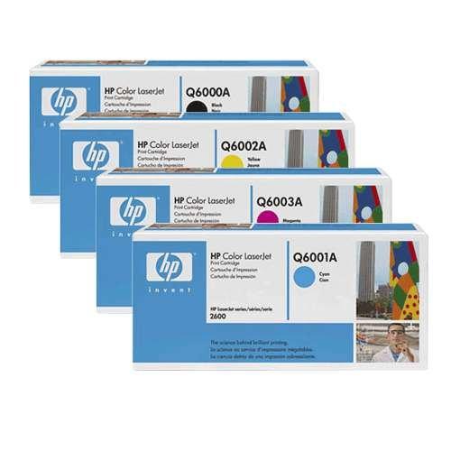 MULTIPACK TONER = 4x ORIGINAL HP TONER Q6000A + Q6001A + Q6002A + Q6003A