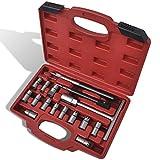 Para la limpieza del asiento de inyectores diésel y la limpieza y reparación de las superficies de sellado de los inyectores Set escariadores para limpieza asiento de inyectores diésel 17 piezas