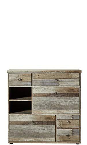 RASANTI Schuhschrank Bonanza von Innostyle Driftwood Vintagelook Dekor