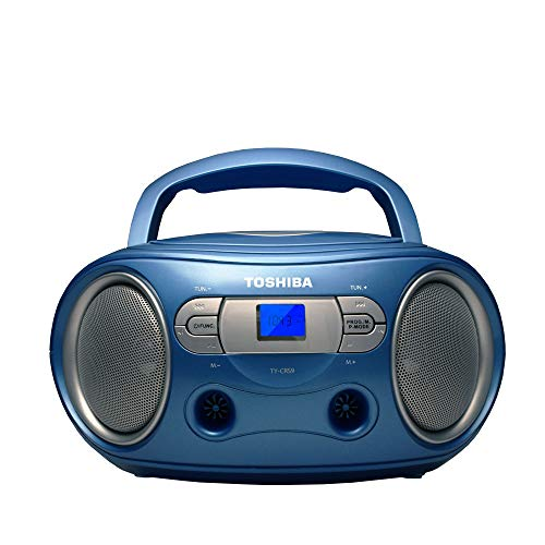 rca boomboxes 2 Toshiba TY-CRS9(L) Portable CD Boombox with Am/FM Stereo and Aux Input Blue