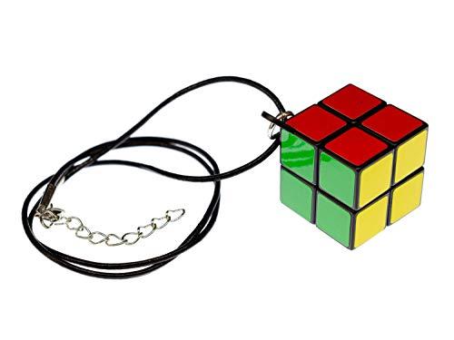 Miniblings Zauberwürfel Kette Anhänger Drehwürfel Würfel Spiel 2er Lederband
