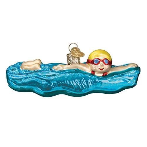 Old World Christmas Swim, Skis and Flippers Glass Blown Ornaments for Christmas Tree