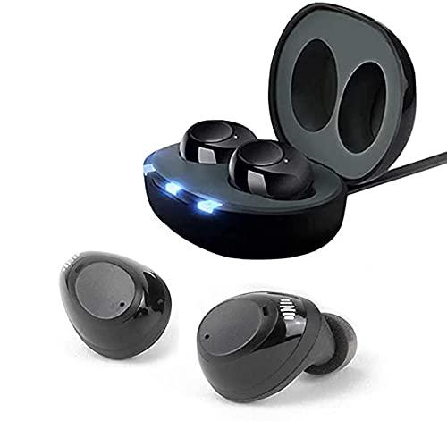 ASZX Amplificador de Sonido de audición Recargable USB, Control de Volumen del oído Amplificador de audición de reducción de Ruido Invisible para Adultos Mayores