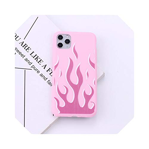 Fashion Multi Color - Flame para iPhone 1112 Pro Max X XS XR Max 7 8 7Plus 8Plus 6S se Soft Silicona Candy Case-11-For iPhone 11 Pro