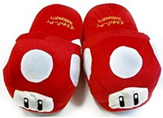 Super Mario Red Mushroom Plush Slipper - adult size up to 10.5