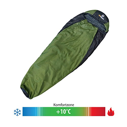 Trekking-slaapzak Trek Night van Outdoorer – de lichte slaapzak, warm, licht, klein pakformaat.