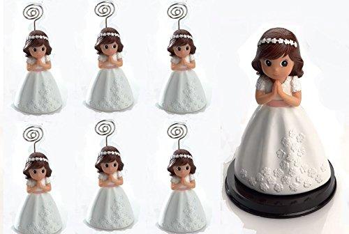 Momparler1870 Portafoto niña Comunión.(2.85 Euros) Pack de 12 Unidades y 1 Figura Tarta a Juego