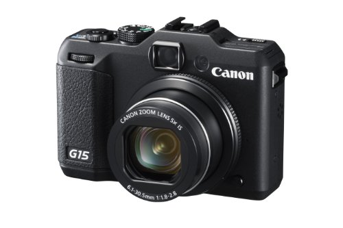 Canon PowerShot G15 Digitalkamera (12 MP, 5-Fach Opt. Zoom, 7,6cm (3 Zoll) LCD-Display, Full-HD, bildstabilisiert) schwarz