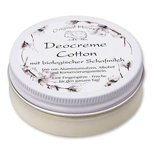 Florex Deocreme - Cotton - mit biologischer Schafmilch ohne Aluminiumsalze Alkohol Konservierungsstoffe 40 g