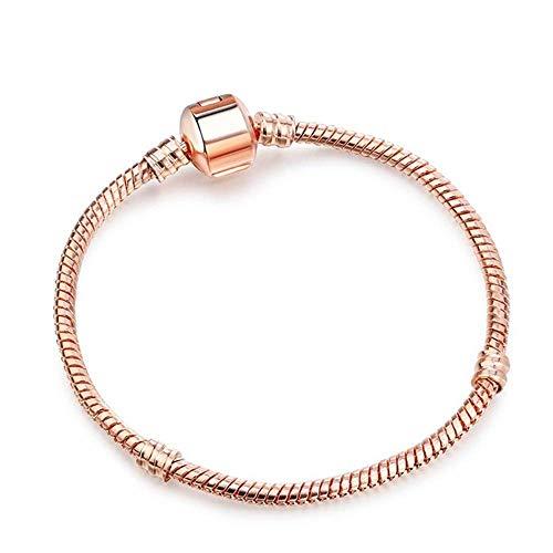 Stijlvolle eenvoud Nieuwe Eenvoudige Armband Verjaardagscadeau Dames Sieraden Mode Armband Sieraden Gift 21 Cm Rose Gold Color, DZ