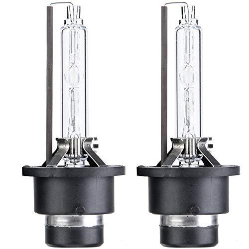 EVTSCAN Bombillas de repuesto para faros delanteros de lámpara de xenón para coche 2 piezas D2S 6000K 35W