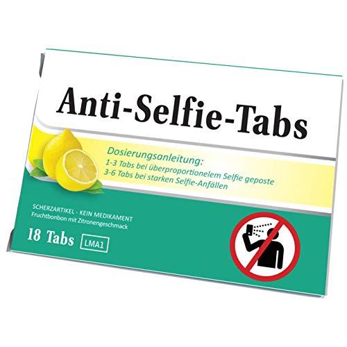 Miesepeter Bonbons - Anti-Selfie-Tabs - Für Selbstverliebte bei überproportionelem Selfie geposte (Zitrone, 1er Pack)