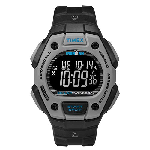 Timex Men's TW2U30200 Ironman Classic 30 Black/Gray/Blue Resin Strap Watch