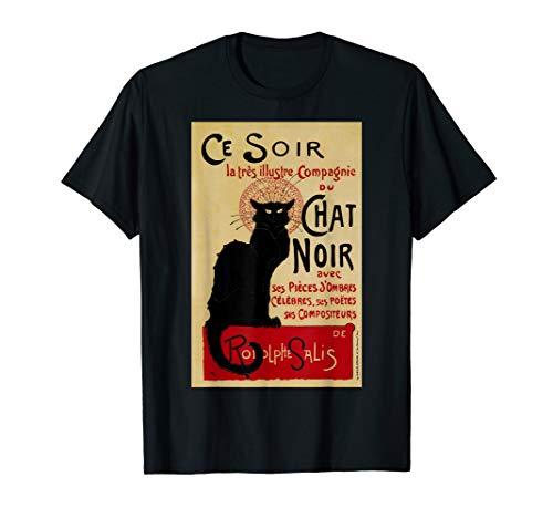 Ce Soir Chat Noir, Schwarze Katze Jugendstil T-Shirt