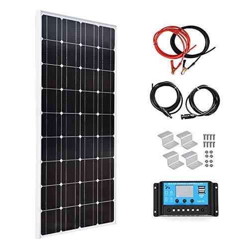 XINPUGUANG Modulo solare monocristallino da 100 Watt 18 V, 12 V, kit 10 A, regolatore per roulotte, camper, casa, giardino, caricatore da 12 V