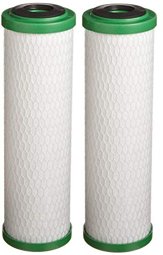 "Pentek CBR2-10 Carbon Filter Cartridge, 9-3/4"" x 2-7/8"", 0.5 Micron (Pack of 2)"