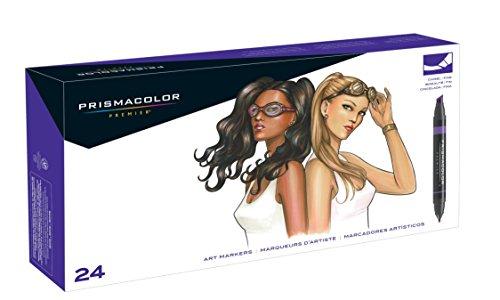 Prismacolor Premier Double-Ended Art Markers, Fine and Chisel Tip, Portrait Set, 24 Pack