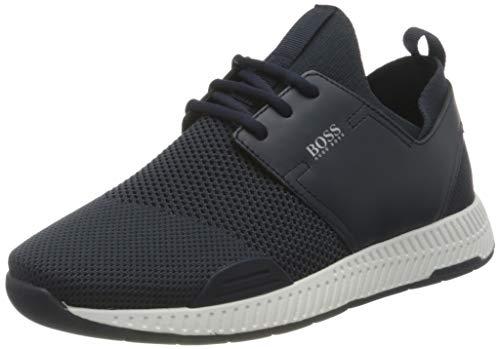BOSS Damen Titanium_Runn_Res Sneaker, Dark Blue401, 39 EU