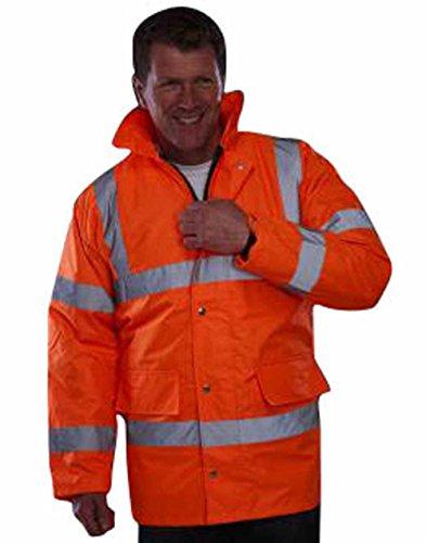 YOKO - Veste parka imperméable de sécurité haute visibilité EN 471 - HVP300 - mixte homme/femme (6XL, Orange fluo)