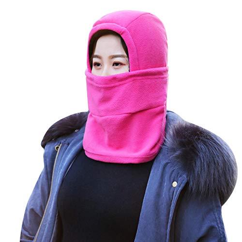 Cxypeng pasamontañas Bicicleta montaña,Montar máscaras de Parabrisas, Careta Protectora Facial máscara resbaladiza fría-Rosa,Calientes Balaclavas Transpirables