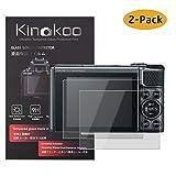 kinokoo Película de Vidrio Templado para Canon PowerShot SX730 HS/SX740 HS Crystal Clear Film Protector de Pantalla Canon SX730 SX740 sin Burbujas/antiarañazos (Paquete de 2)