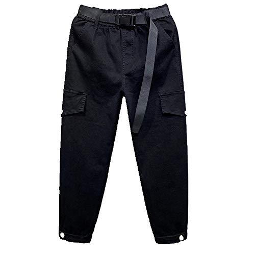 N\P Otoño Militar Pantalones Elásticos Cinturón Cinturón Banda Lazo Pie Militar Pantalones de las Mujeres Nueve Punto Mostrar Delgado Casual