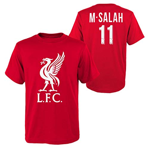 Liverpool - Salah Name & Number Youth T-Shirt (Youth Small)
