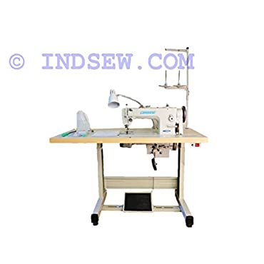 Consew Premier 1206RB Lockstitch Machine with Assembled Table and Servo Motor (P1206RB)