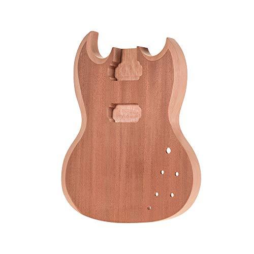 Muslady Corpo della chitarra Incompiuto Legno di mogano vuoto Guitar Barrel per Style Chitarre elettriche Parti fai-da-te SG-T1