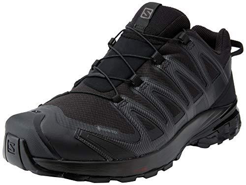 Salomon XA Pro 3D V8 GTX, Zapatillas De Trail Running Y Sanderismo Impermeables Versión Màs Ligera Hombre, Color: Negro (Black/Black/Black), 41 1/3 EU