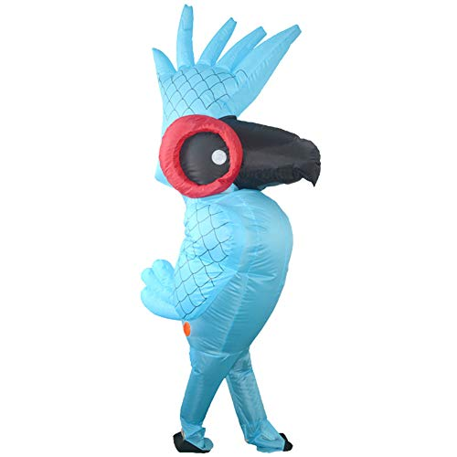HGYJ Disfraz Inflable Loro Disfraz Inflable mueca de Dibujos Animados de Halloween