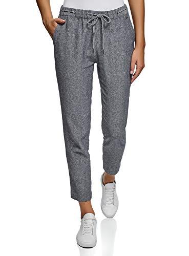 oodji Ultra Mujer Pantalones con Cordones