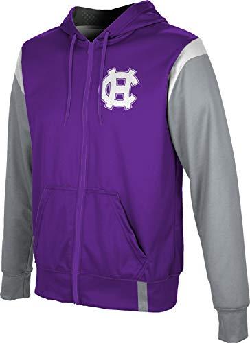 The College of The Holy Cross Men's Zipper Hoodie, School Spirit Sweatshirt (Tailgate) 49EFCA1C Purple and Gray