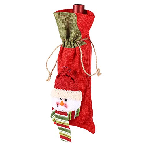 Balacoo Christmas Themed Red Wine Bottle Cover Wine Gift Bag Champagne Wine Pouch