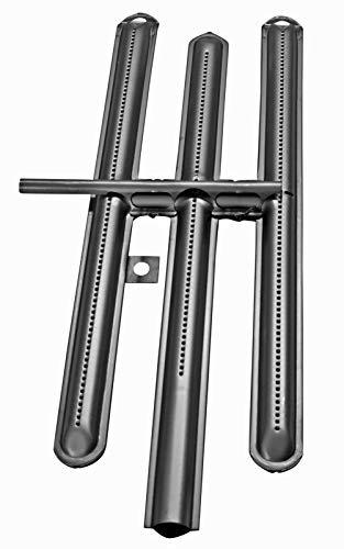YOURGRILL hochwertiger Brenner Brennrohr H-Brenner für K&F Grills Ersatzteil für Gastrobräter Gasgrill Gastrobraeter Ersatzbrenner Gasbraeter, Größe: 4,5 KW Rechts, Stahl
