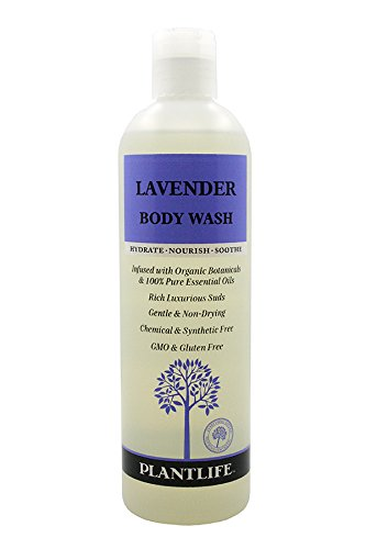 Plantlife Moisturizing Body Wash and Shower Gel Cleanser with Natural Ingredients - Nourishes Dry & Sensitive Skin - Scented with Premium Essential Oils - Lavender - 14 fl oz
