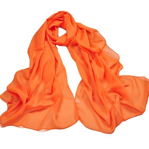 Broadfashion Damenmode Sommer Chiffon Schal Strand Schals Chiffonschal (Orange)
