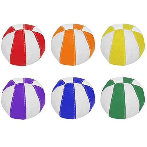 Newitts PLAYM8 Bean Bag Balls [Pack of 6] • Bright Rainbow colours • Made from PVC • 9cm Diameter