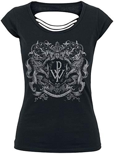Powerwolf Crest Frauen T-Shirt schwarz M 100% Baumwolle Band-Merch, Bands