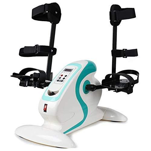Bicicleta Ejercicio motorizada/Bicicleta discapacitados y discapacitados - Ejercitador Pedal eléctrico Soporte Protector Pierna - Entrenador rehabilitación Personas Mayores